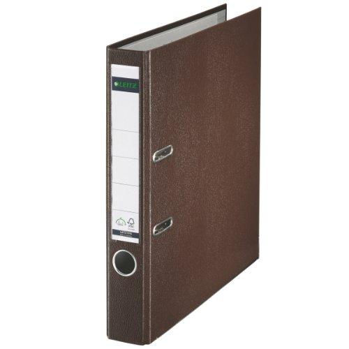 Leitz 10155075 Qualitäts-Ordner (Plastik-Cover, A4, 5,2 cm Rückenbreite) brown - Braune A5 Organizer