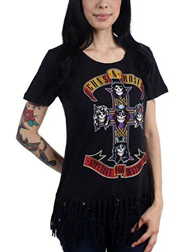 Guns N Roses - Womens Cross Fringe Crop Top