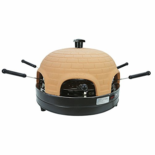 PizzaGusto Electric 6 Person Pizza Oven Cooker & Cookie Baking Oven Terracotta Dome