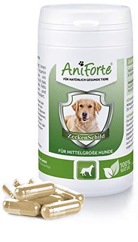 Aniforte Zeckenschutz für Hunde (mittelgroß 10-35kg) 60 Kapseln - Natürlicher Zeckenschild, Abwehr gegen Zecken und Parasiten, Anti-Zecken Schutz, Zeckenabwehr Naturprodukt -
