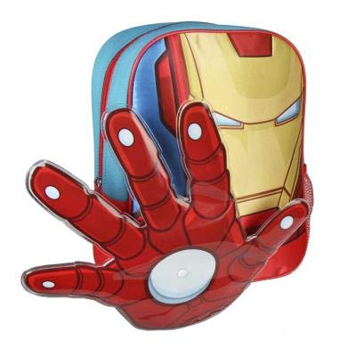 Cerdá Iron Man Kinder-Rucksack, 31 cm, Rot (Rojo)