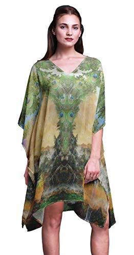Phagun Damen Plus Size Kaftan Sommer Wear Beach Coverup Kimono Kaftan-4X-5X -