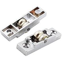 Sourcingmap a14101400ux0563 - Juego de 2 pestillos para puerta corredera (ruedas de 10 mm de