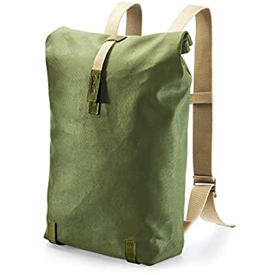 Brooks England Unisex Pickwick Backpack 26 Hay Day Pack in Canvass with Leather Details, Green, Medium - bike-backpacks