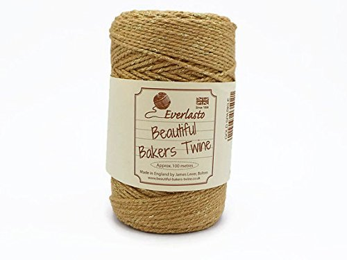quality-cotton-gold-sparkle-bakers-twine-100m-by-james-lever-everlasto