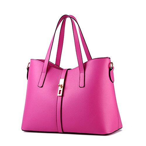 Myleas Donna Borsa a Tracolla Borsetta Shopper Borse con Cinturino Rose