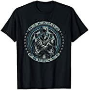 Marvel Black Panther T'Challa Wakanda Forever Black T-S