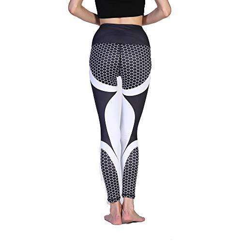 Leggings, Nine Hosen Outdoor-Sport-Fitness Cross-Tail-Yoga-Strumpfhosen Frauen, Interessantes Drup Elastic High Waist Leggings, Yoga, Fitness, Stretching Sports Strumpfhosen,M