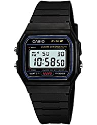Casio Herren Armbanduhr Collection Digital Quarz Schwarz Resin F-91W-1Yer