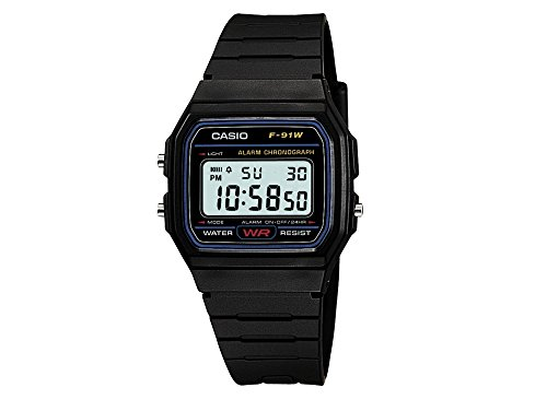 Casio Collection – Orologio Unisex Digitale con Cinturino in Resina – F-91W-1YER