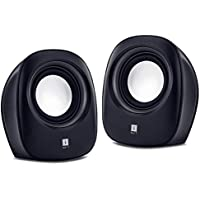 iBall Sound Wave2 - Multimedia 2.0 Stereo Speakers, Black