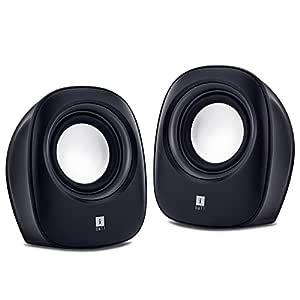 iBall Sound Wave2 - Multimedia 2.0 Stereo Speakers, Black