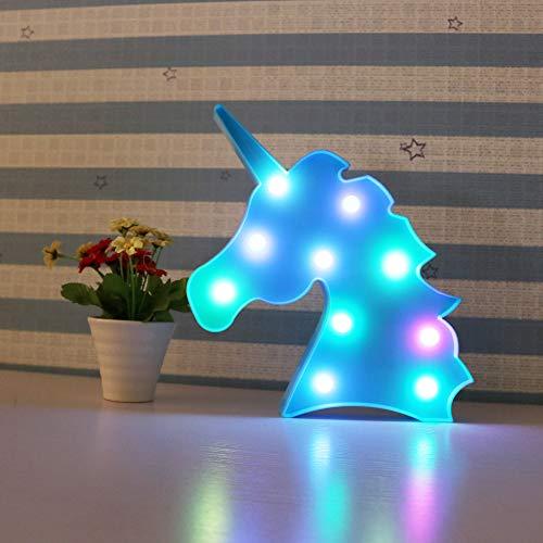 Veilleuse Coloré Licorne LED Lumière Nuit Lumières Mur Décoration Signe Décoratif pour Fête/Mariage/Fête d'anniversaire Enfant
