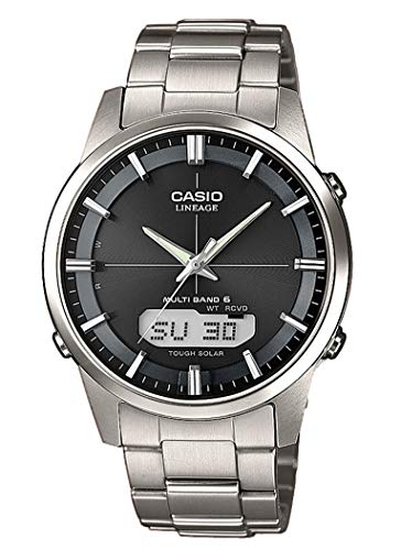 Casio Herren Analog Quarz Uhr mit Edelstahl Armband LCW-M170TD-1AER