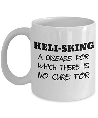 Heli-Sking Mug - Clever and Silly Gift Idea - A Comical and Witty Ceramic Coffee Cup, Always a Fun Surprise to Give and Receive-11oz