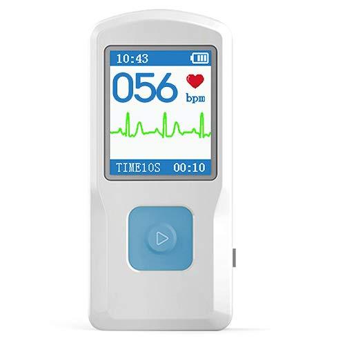 Tragbares EKG Gerät Messgerät Monitor Pulsoxymeter Pulsmesser Herz Kreislauf Gesundheit Bluetooth OMC