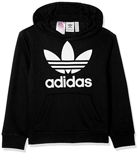 adidas Jungen Trefoil Hoodie, Black/White, 140 (Addict Hoodie)