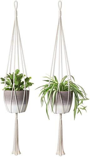 Macrame Plant Hanger Set Of 5 Indoor Wall Hanging Planter Basket Flower Pot Holder Boho Home Decor Removing Obstruction Pot Trays Promotion