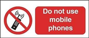 100x 250mm nicht nutzen Handys–selbstklebend Sicherheit Label