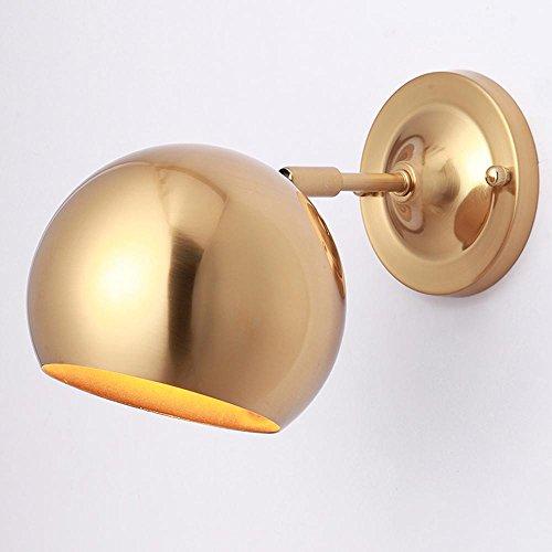 Modern Kreative Wandleuchten Metall Design Kinderlampe Eisen Wandlampe Schlafzimmer Flur Kinderzimmer Wandbeleuchtung Klassisch Schlummerlampe Dekoleuchten E27 17.5CM×27.5CM Gold