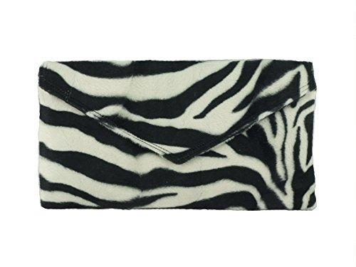 Loni ordentlich Umschlag Animal Print Clutch Bag/Schultertasche in Zebra Leopard oder Gepard in zebra (Zebras Und Geparden)