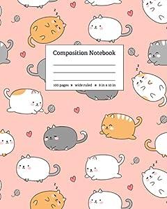 Kawaii Cute Cat Composition Notebook: