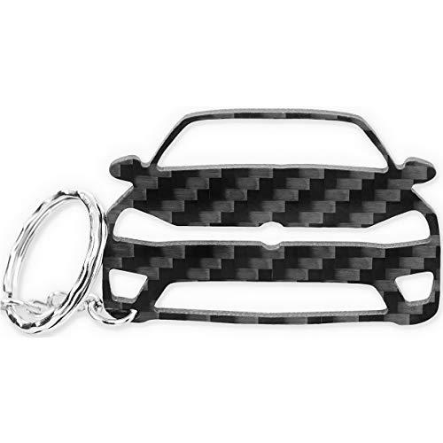 Preisvergleich Produktbild ACF VW Schlüssel-Anhänger | echtes Carbon | Geschenk-Idee | Tuning | VW Golf 7-R GTI TDI TSI GTD