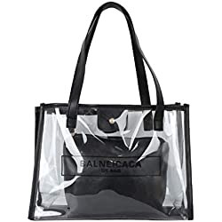 Zegeey sac a main femmes Sac à bandoulière Women Ladies Transparent Crossbody Messenger Handbag Waterproof Beach Bags Mode Sacs Messenger Sacoche en Cuir Transparent Sac à Bandoulière