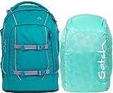 Satch Pack Ready Steady 2er Set Schulrucksack & Regencape Mint