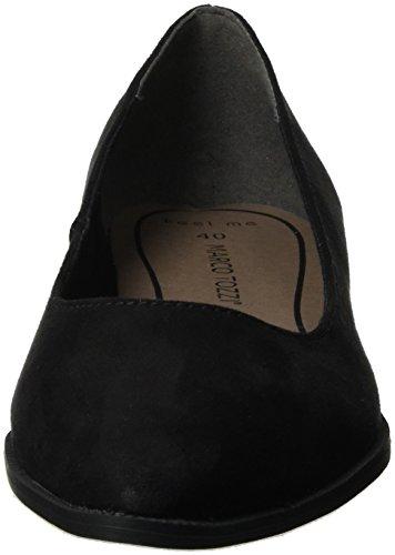 Marco Tozzi Damen 22128 Geschlossene Ballerinas Schwarz (Black 001) ba0OTO