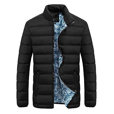 Bluestercool Blouson Hommes Hiver Warm Manteau Décontractée Outerwear Parka Veste 4 Couleur (M, Noir)
