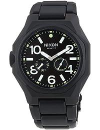 Nixon  0 - Reloj de cuarzo para hombre, con correa de acero inoxidable, color negro