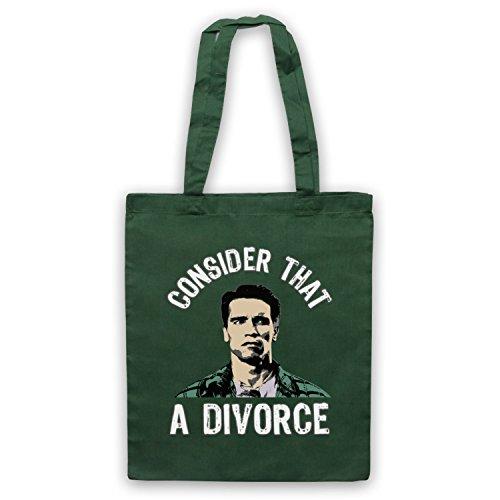 Inspiriert durch Total Recall Consider That A Divorce Inoffiziell Umhangetaschen Dunkelgrun
