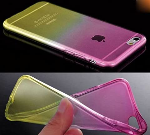 Coque Iphone 6 ou 6s Silicone 2 couleurs Rose et