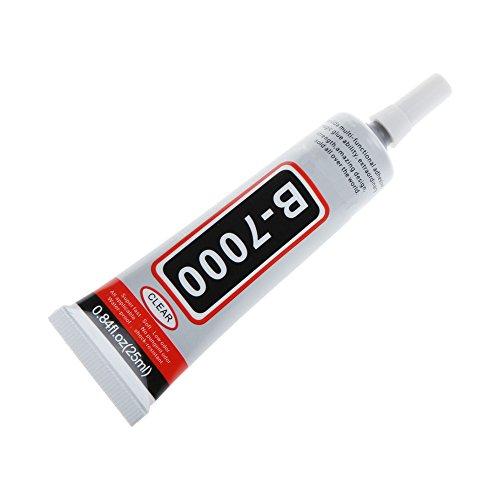 B-7000 Kleber 25 ML, transparent für die Reparatur, Smartphone-Bildschirm, Tablet- und Schuh-Collage, Modeschmuck, Buchbindung
