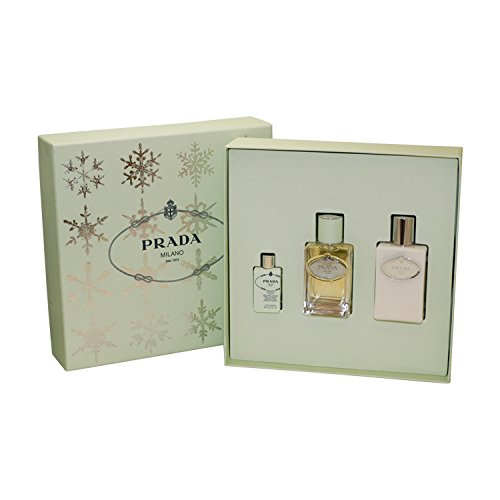Prada Infusion D' Iris Geschenkset 100ml EDP Eau de Parfum Spray + 10ml EDP  + 100ml Body Lotion - 10 Ml Eau De Parfum Spray