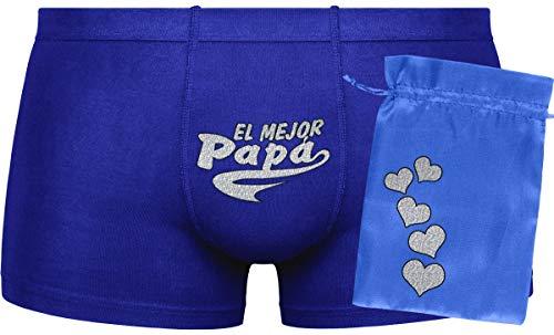 Herr Plavkin Bolsa Azul | El Mejor papá | Opción Oscura: opción de Color Aleatorio para Boxers (Negro, Gris, Azul .).