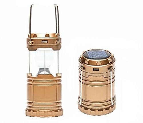 Ltr-batterie (Solar Camping Laterne, Aufladbare Camping Laterne, Licht, Lampe, Garten, 8 LED, Solar, aufziehbar, USB, Batterie, Akku, Braun)