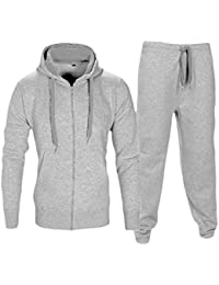 1a369dcb204e Love My Fashions Mens Tracksuit Set New Contrast Cord Fleece Hoodie Top  Bottoms Jogging Zip Joggers Gym Sport Sweat Suit Pants…