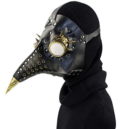 Starall Steampunk Pest Arzt Maske Kunstleder Vögel Schnabel Masken Halloween Kunst Cosplay Carnaval Requisiten (# 4)