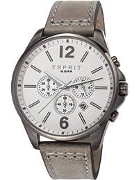 Esprit - ES106921004 - Montre Homme - Quartz Chronographe - Bracelet Cuir Gris