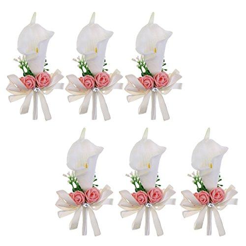 gemacht Lily Brosche Boutonniere Ansteckblume für Hochzeit (Ansteckblume Hochzeit)