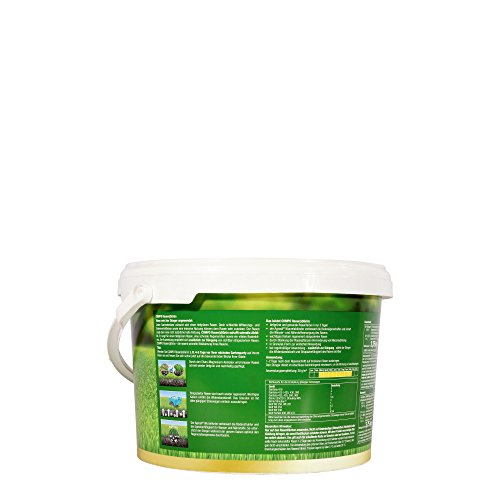 COMPO Dünger Rasen(d) Grün, Schnelle sichtbare Rasenregeneration, Granulat, 3,75 kg, 125 m²
