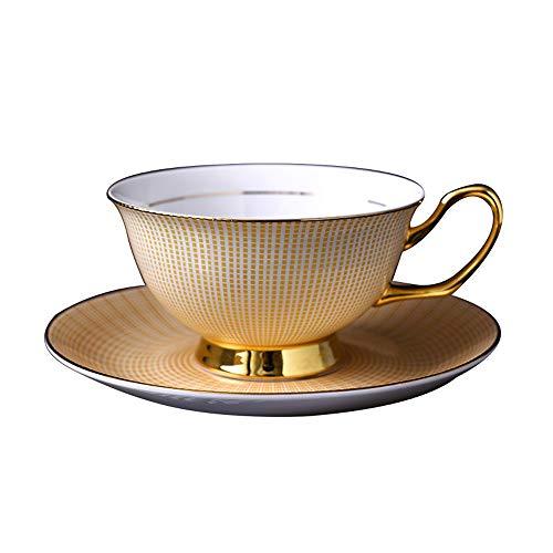 WOLONG Kaffeetassen Knochen China Tasse 2 Stück/Set Kariertes Muster Keramik Phnom Penh Tassen...