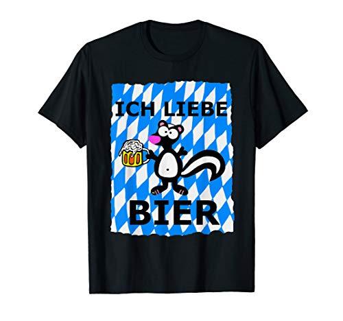 Bier Shirts Ich Liebe Bier Shirt Oktoberfest Kostüm Geschenk T-Shirt (Ich Liebe Bier Kostüm)