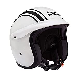 Royal Enfield Gloss White Open Face with Peak Helmet Size (M)58 CM (RRGHEI000075)