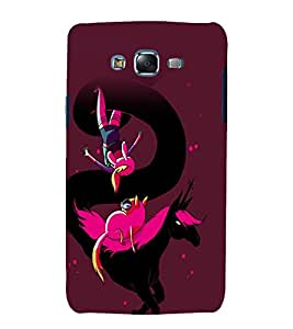 printtech Anime Cartoon Horse Cat Back Case Cover for Samsung Galaxy A8::Samsung Galaxy A8 A800F
