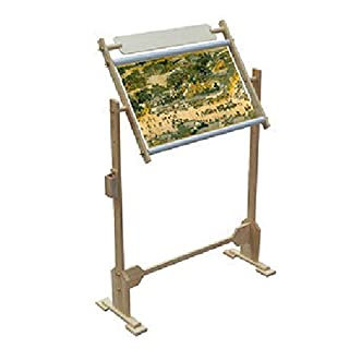Cross Stitch Embroidery Wooden Floor/Tabletop Tapestry Stand Frame 3 Sizes (14ct 80x78x50cm)