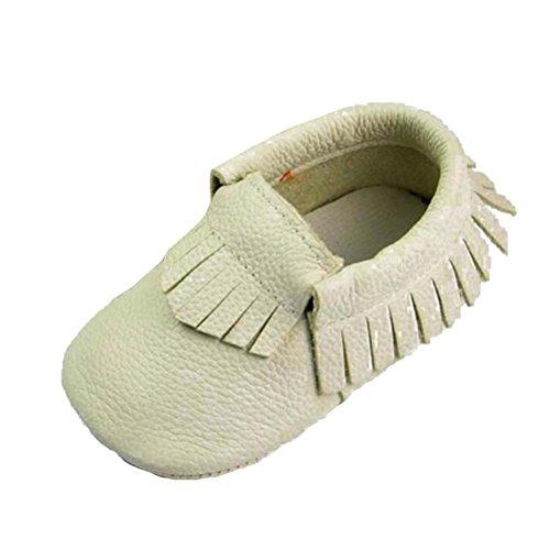 Smith Menina Estrada Bebê, Menino, Unissex Sapatos Walker Mocassim Rastejando Sapatos Calçados Com Borla Couro Genuíno 0-24 Meses Branca