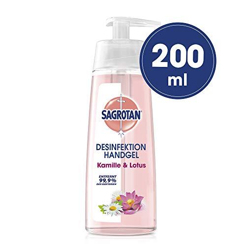 Sagrotan Hand-Desinfektionsgel Kamille, Desinfektion im praktischen Spender, 1 x 200ml